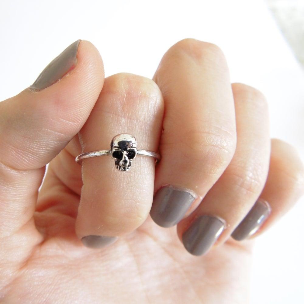 Image of Dainty Skull Ring