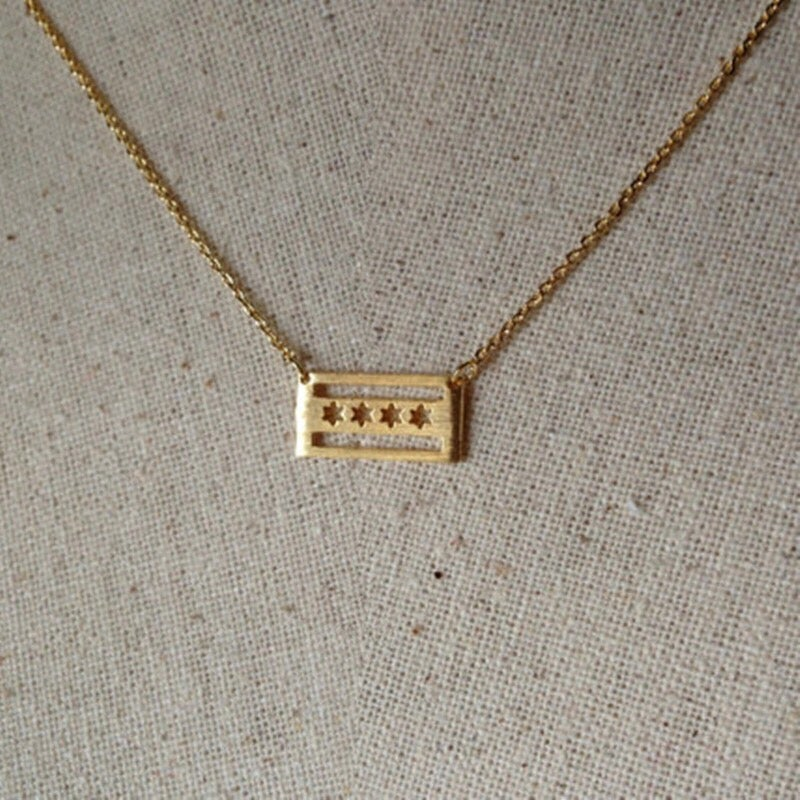 Image of ChiTown Flag Necklace