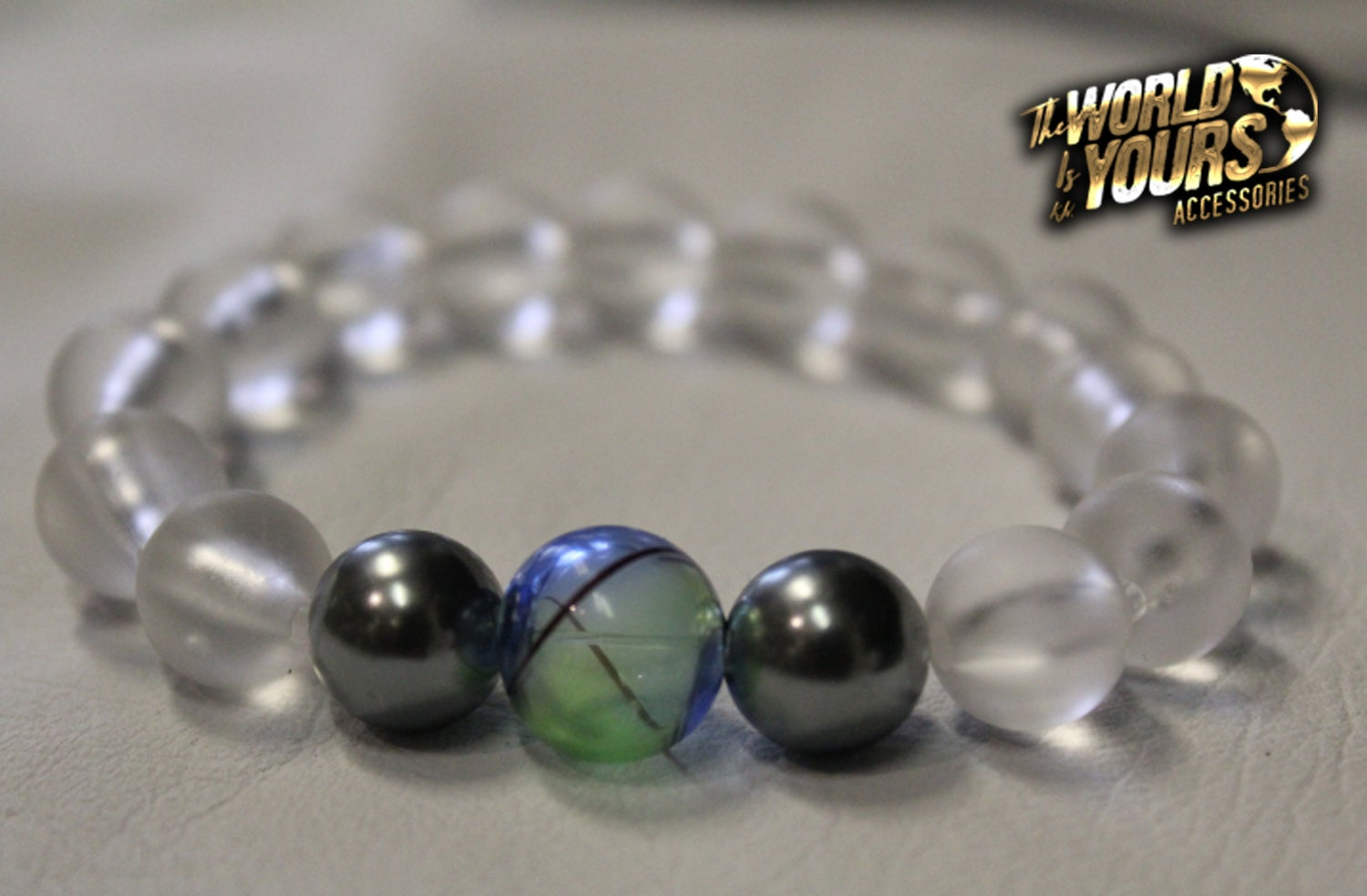 Image of TWIY APPAREL CLEAR GLOBE BRACELET