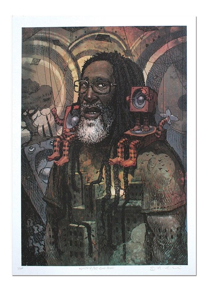 Image of Kool DJ Herc - Lithograph Print