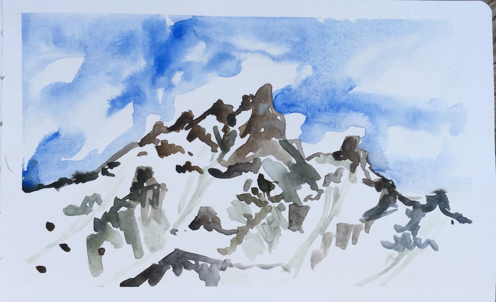 Image of Tetons from Jenny Lake