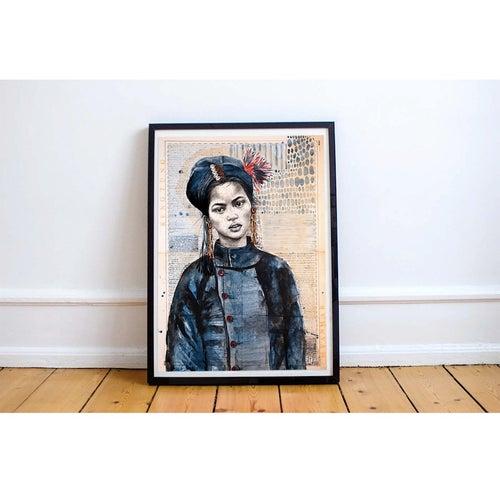 """Image of Paper Art Print - """"Chez les Anns 1"""""""