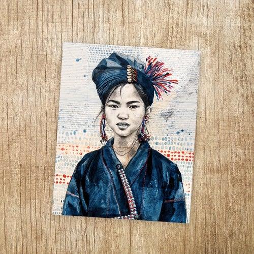 """Image of Paper Art Print - """"Chez les Anns 2"""""""