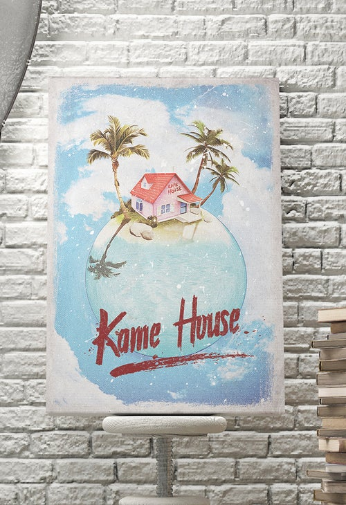 Image of Original Canvas : Kame House Art カメハウス