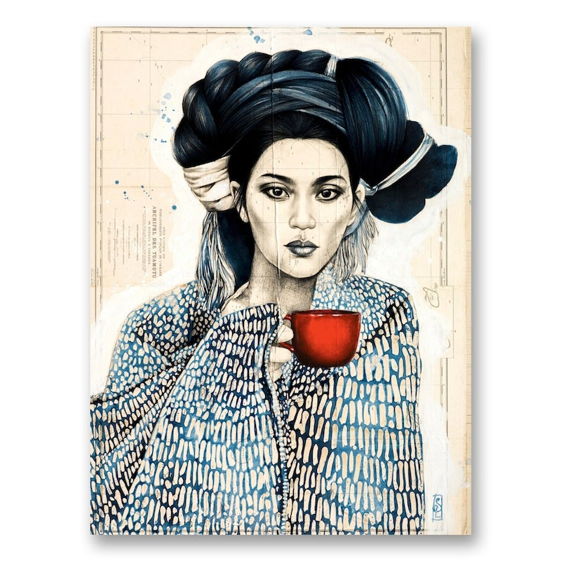 "Image of Paper Art Print - ""Tasse Rouge"""