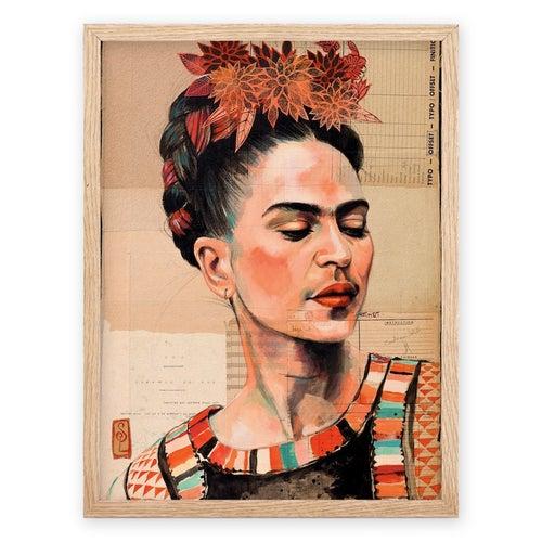 """Image of Paper Art Print - """"Frida Couleur"""""""