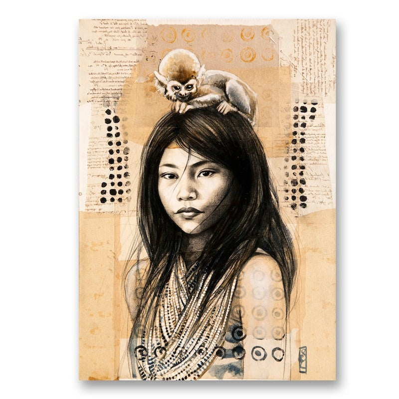 """Image of Paper Art Print - """"Chez les Kogis"""""""
