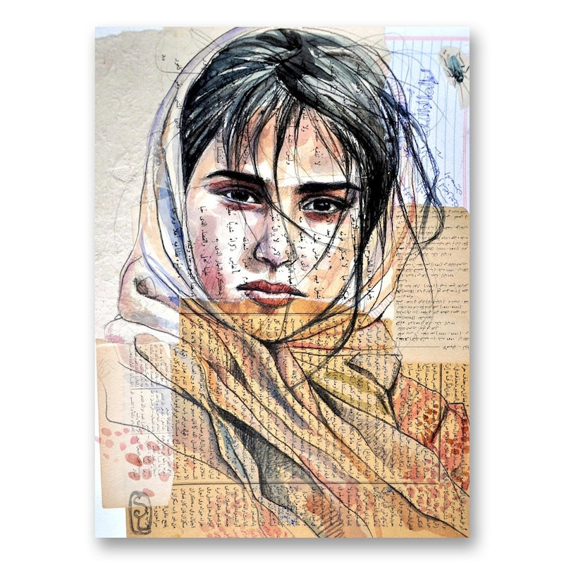 "Image of Paper Art Print - ""Fille de Haraz"""