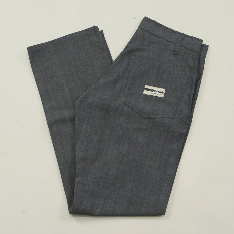 Image of MADE IN USA DOMEstics. BLUE CHAMBRAY Pants