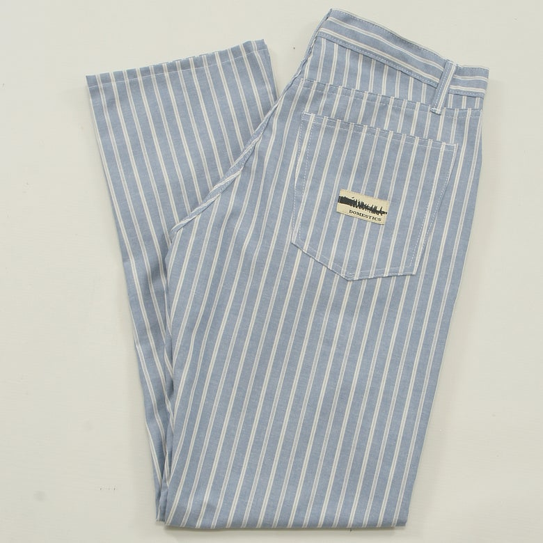 Image of MADE IN USA DOMEstics. BLUE PAJAMA Pants