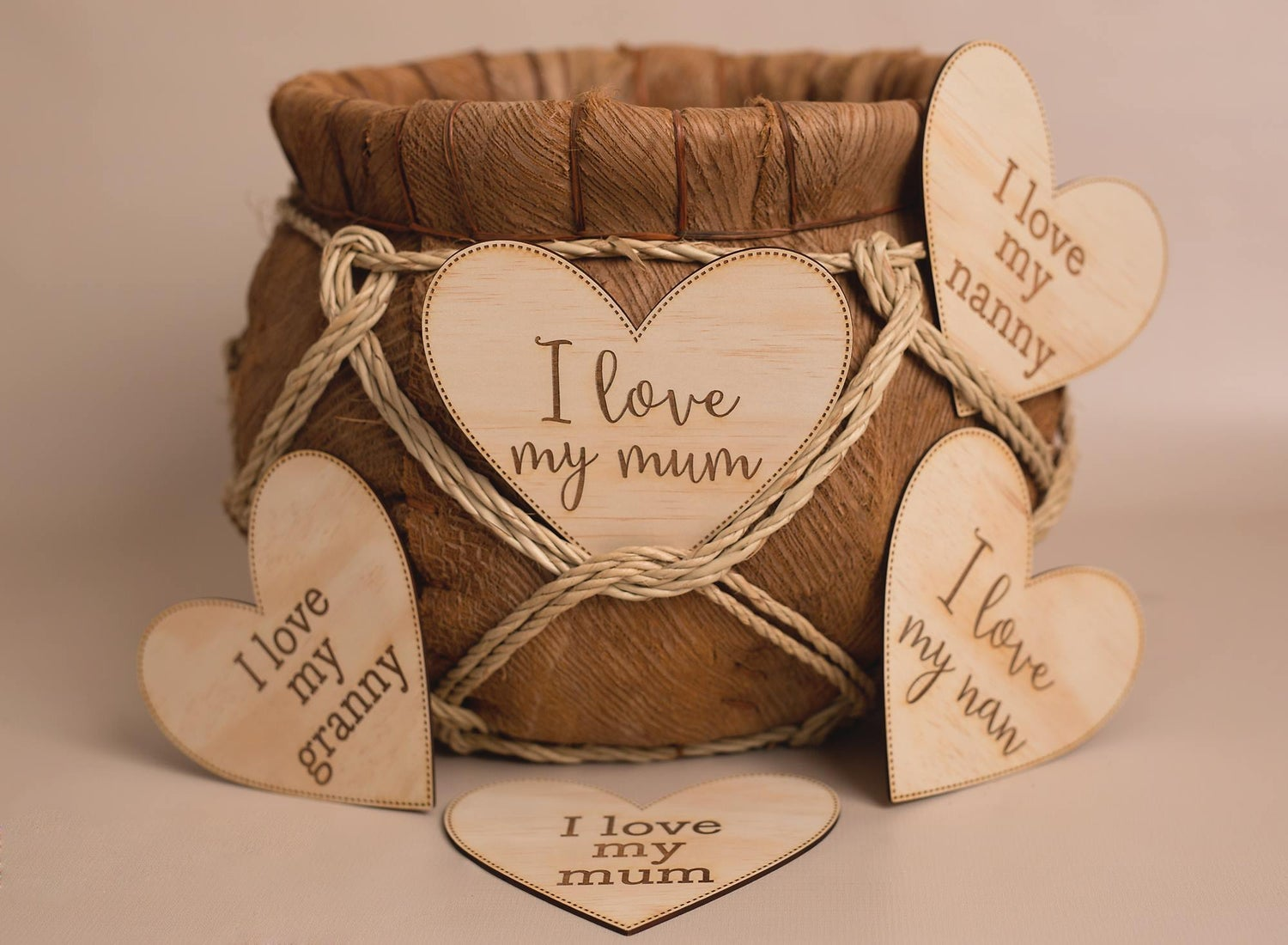 Image of Love Plaque BLOCK FONT