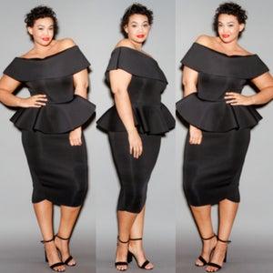 Image of Phaedra Peplum Dress **Pre-Order Only**