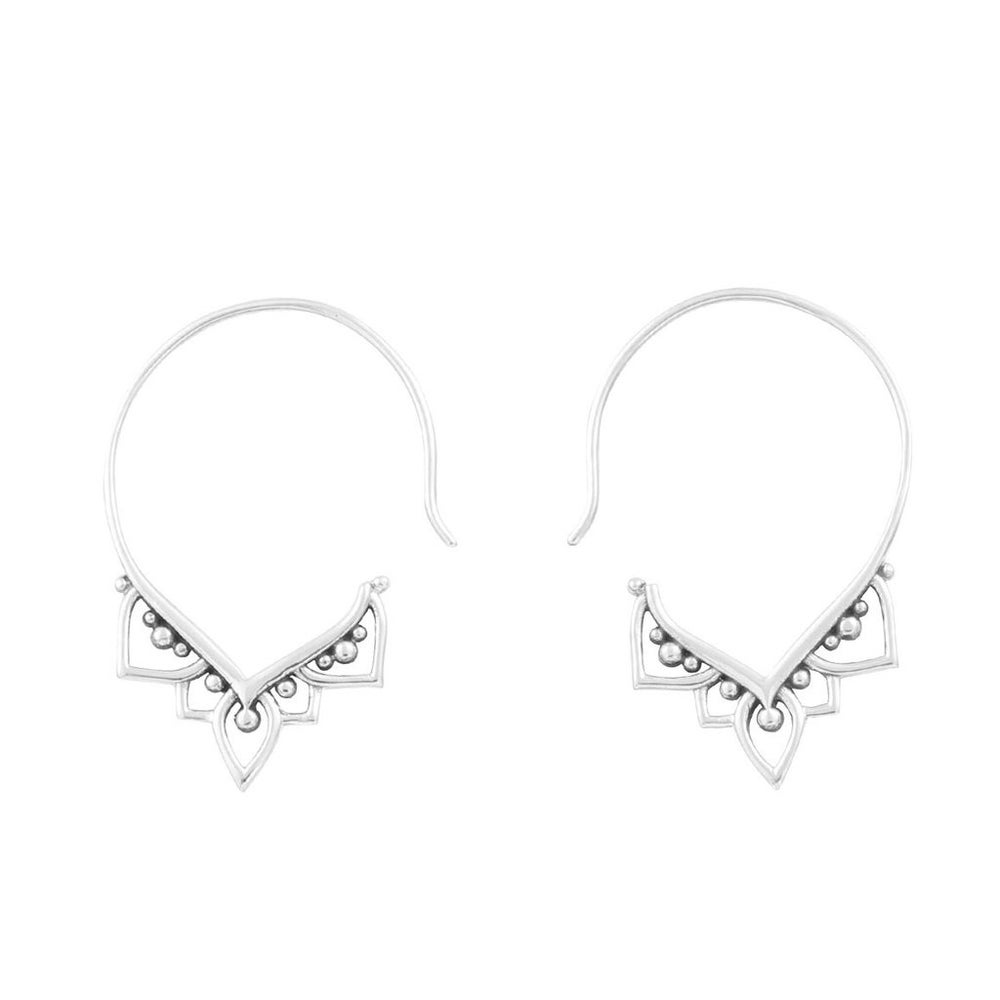 Image of Sterling Silver Mehndi Hoops