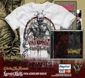 Image of VOMIT REMNANTS - White Cadaver Tshirt Bundle
