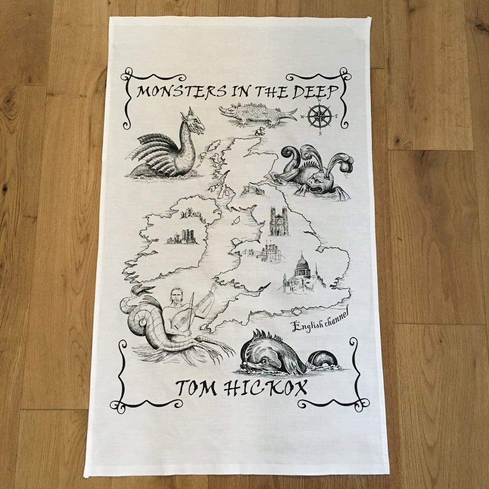 Image of Monsters In The Deep Tea Towel