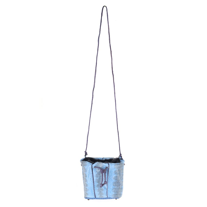 Image of Dariji reptile skin bag - electric blue
