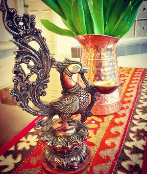 Image of Large Swan Lamp/ Diya