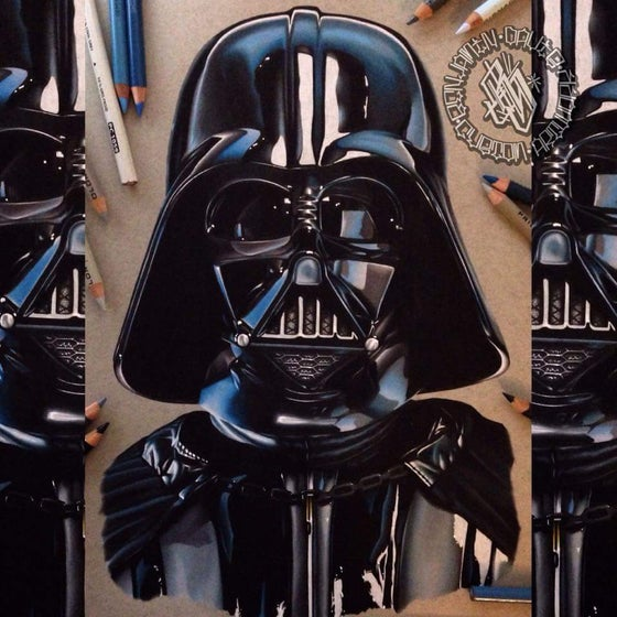 Image of Limited edition darth vader print (A4)