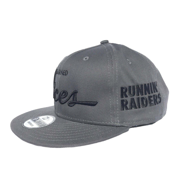 Image of Runnin' Raiders 1st Rounders Snapback - GRY/BLK