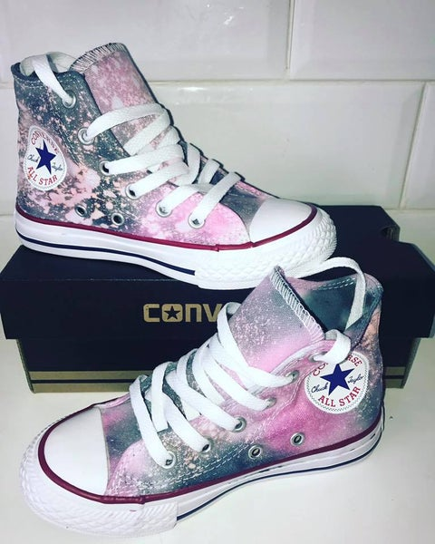Image of galaxy customised  converse hitops