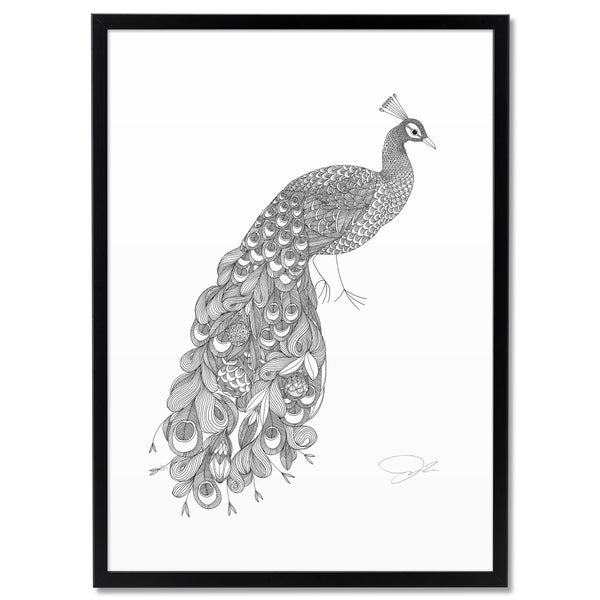 Image of Print: Flowery Peacock