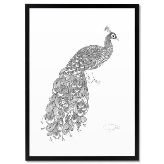 Image of Print: Flowery Peacock