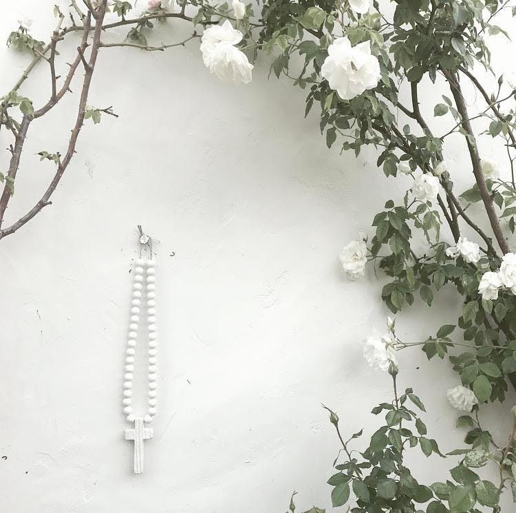 Image of EXTRA MINI LOVE BEADS - WHITE CROSS