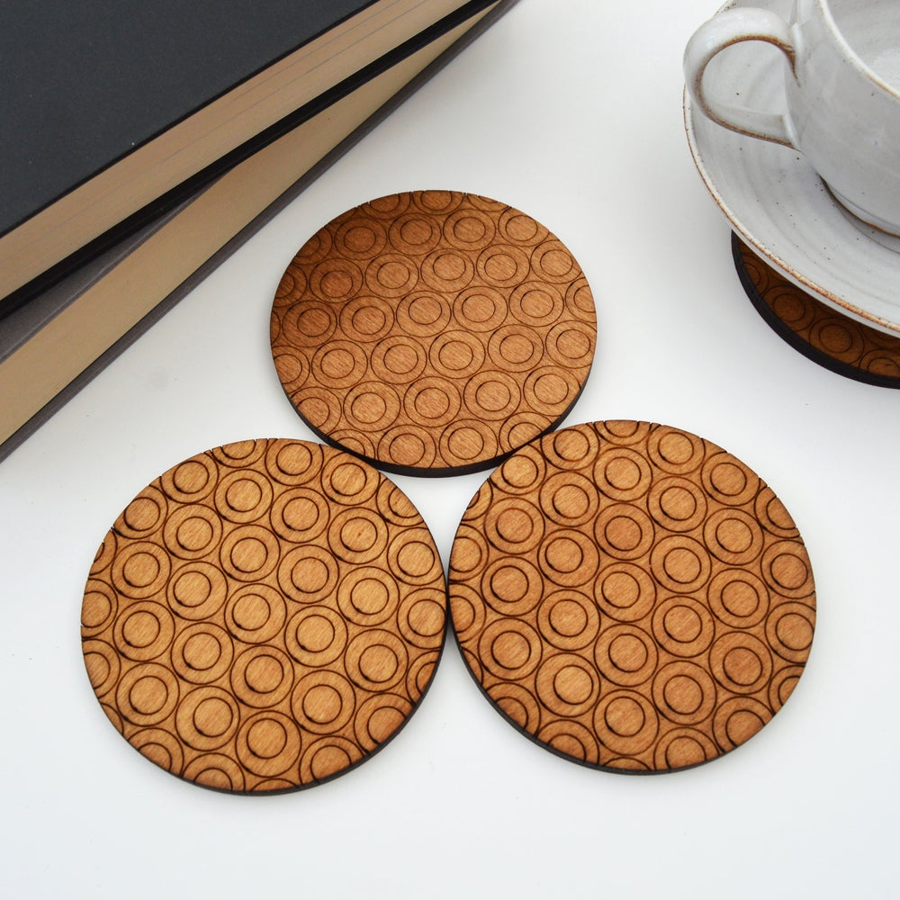 Image of Circle Design Coasters
