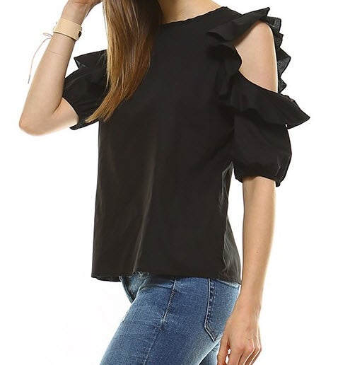 Image of Megan Ruffle Top