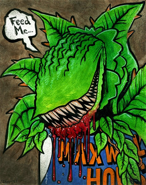 Image of 'Little Shop of Horrors: Audrey II' Original Painting