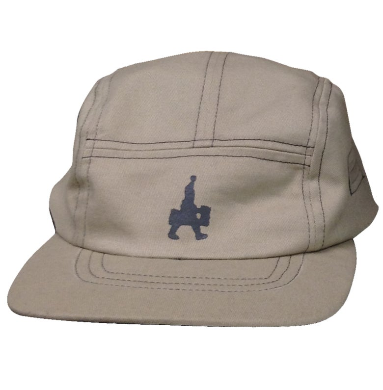 Image of MADE IN USA DOMEstics. TAN 5 Panel Hat