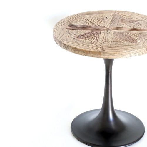 Image of Parquetry Elm Side Table