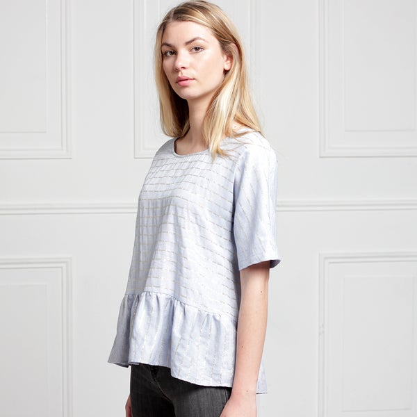 Carla Top Bleu  - Maison Brunet Paris