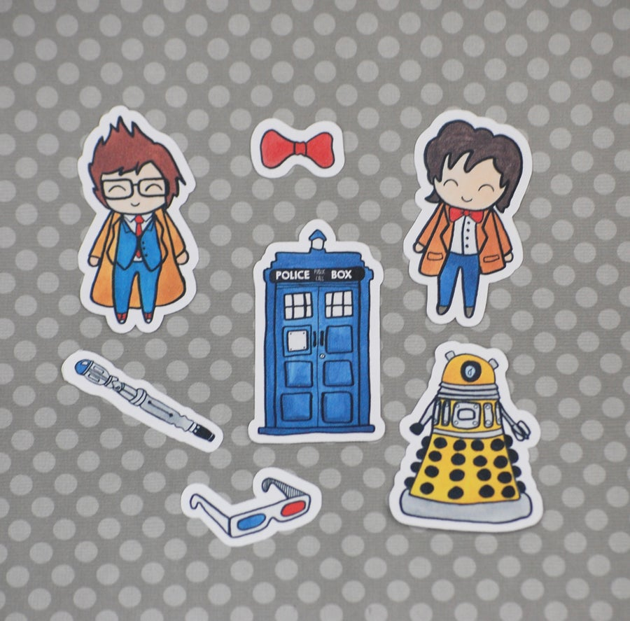 Image of Doctor Who Vinyl Sticker Pack