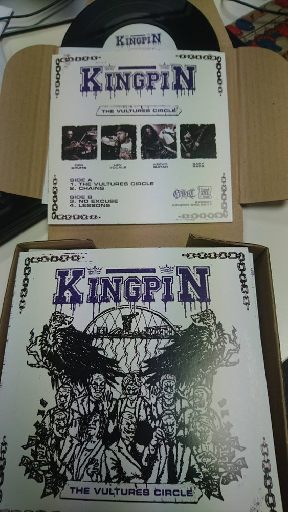 "Image of Kingpin ""The Vultures Circle"" - 7"" vinyl + download code"