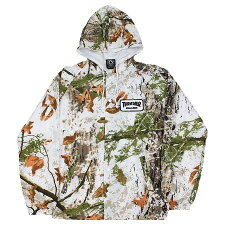 Image of THRASHER WHITE CAMO COACH JACKET