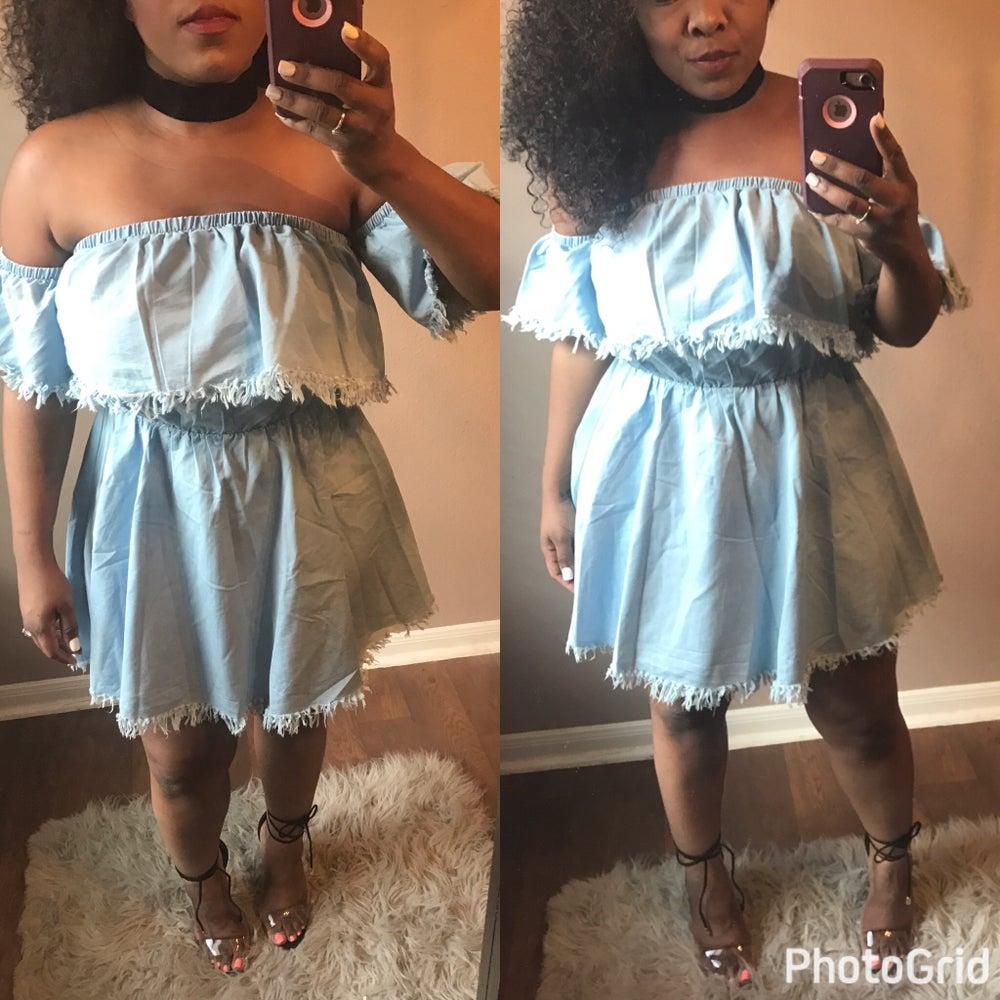 Image of Baby doll dress denim