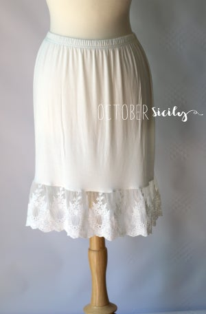 Image of NEW Lace Half Slip Dress Extender *Style 5*