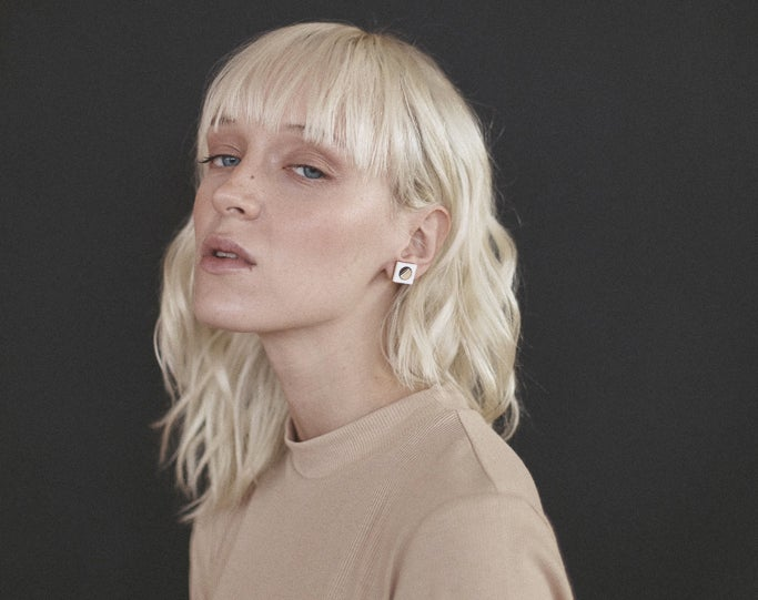 Image of Frame stud earrings - Rose