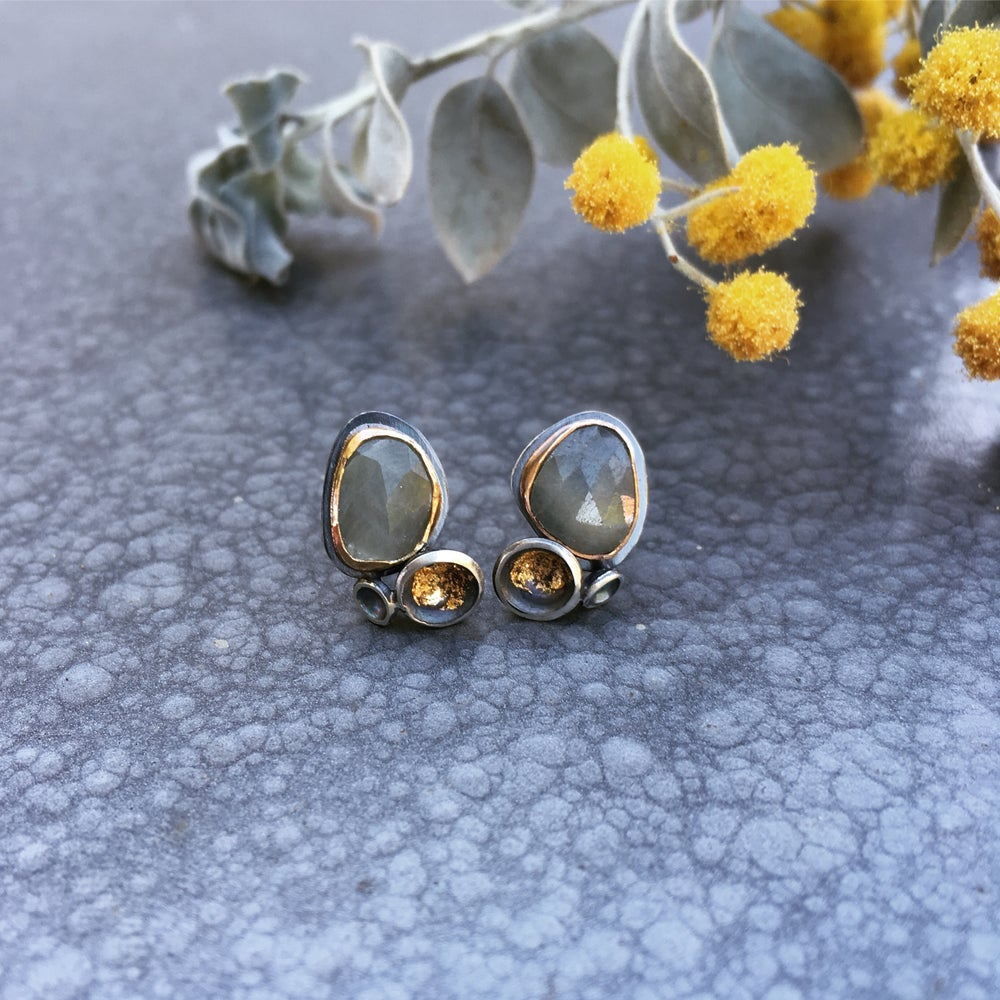 Image of Acacia Cluster Studs with Sapphire