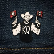 Image of KO! Enamel Pin (Red Flags)