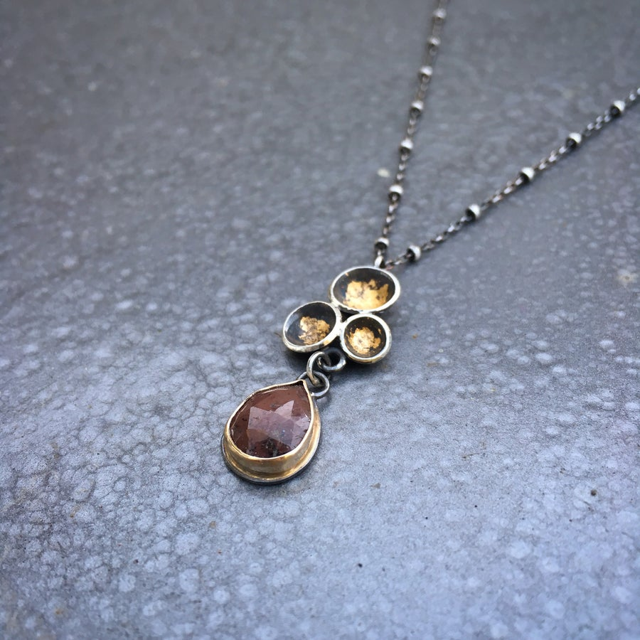 Image of Acacia Cluster Pendant with Sapphire
