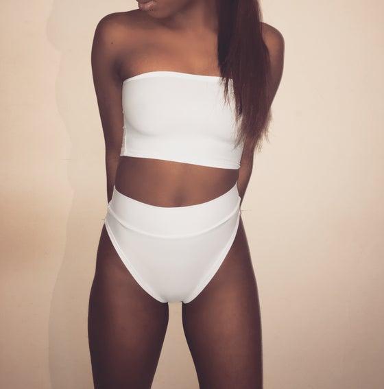 Image of Ivory High Waisted Swimsuit