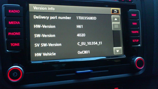 Image of Vw Rns 510 Firmware 1200 Download