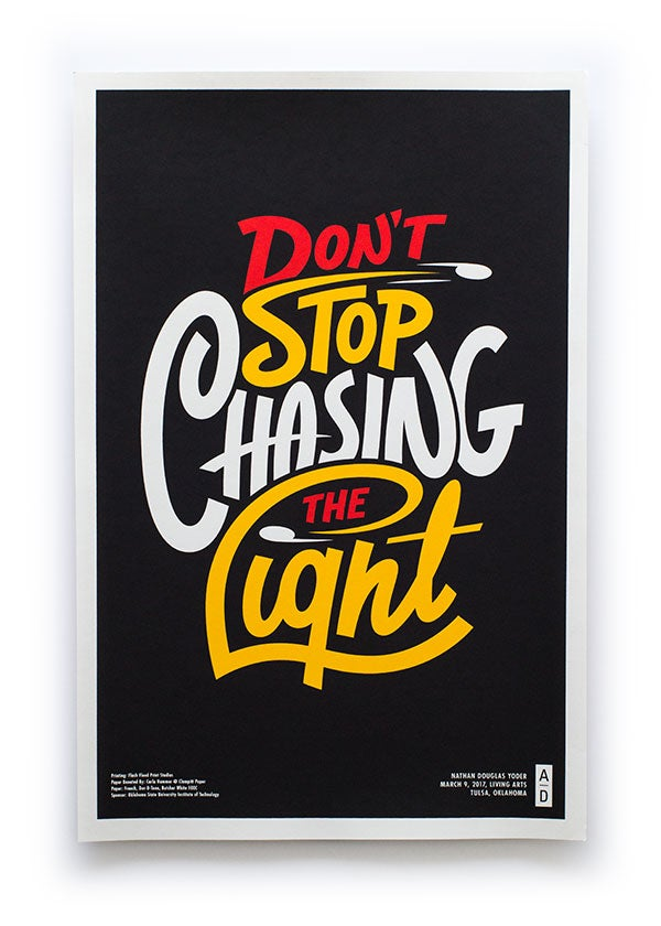 Image of Chasing The Light - Signed Print