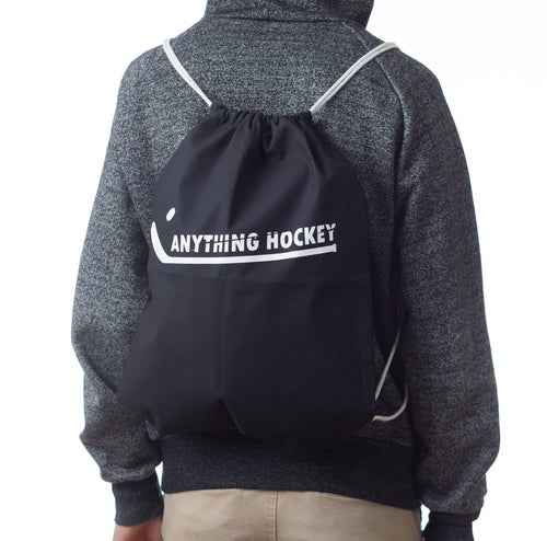 Image of Anything Hockey cinch gym bag