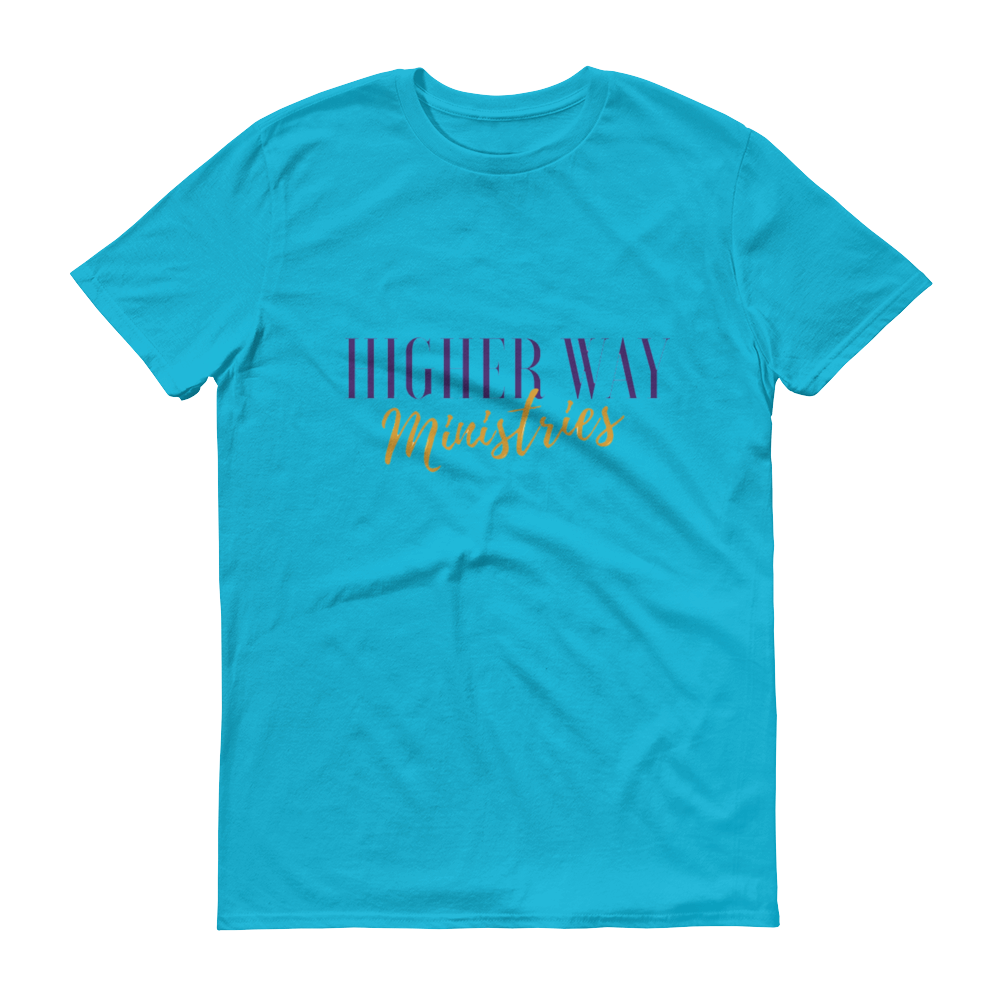 Image of Higher Way Ministries (HWM) Tee Caribbean Blue