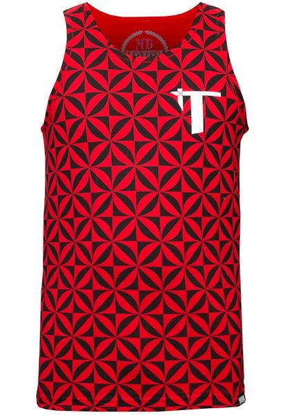 Image of Tatau Tapa Tank Red
