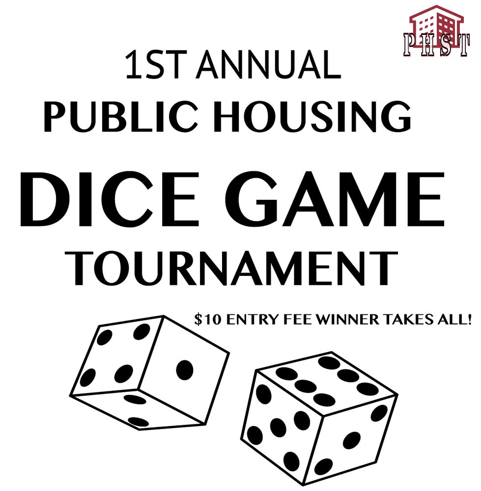 Image of WHITE DICE GAME TOURNAMENT T-SHIRT