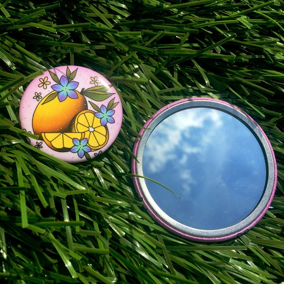 Image of 'Lemon' Pocket Mirror & Button Set
